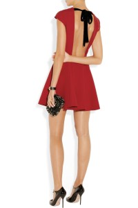 MiuMiu red dress back