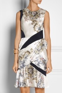 Prabal Gurung printed silk-satin dress