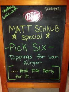 Matt Schaub Burger