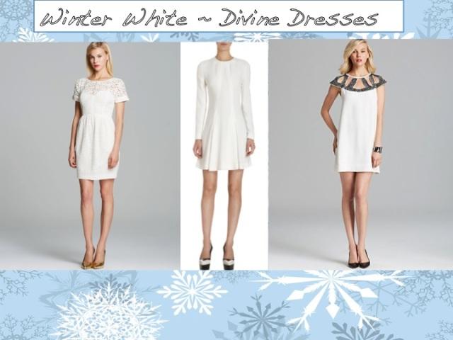 Winter White ~ Divine Dresses