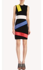 Christopher Kane Striped Sleveless Dress