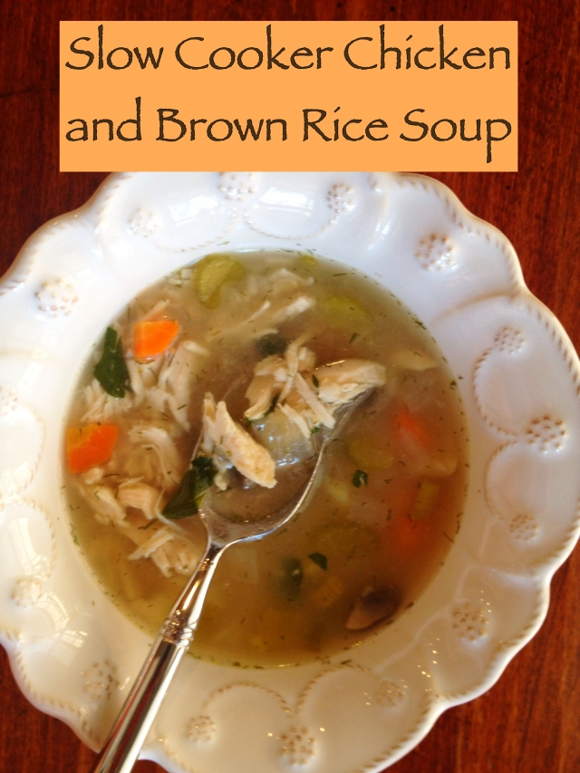 Detox Chicken and Brown Rice Soup