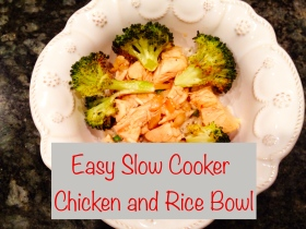Easy Slow Cooker Chicken and Rice Bowl ~ Georgia Peach on My Mind