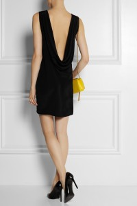 YSL silk mini dress back