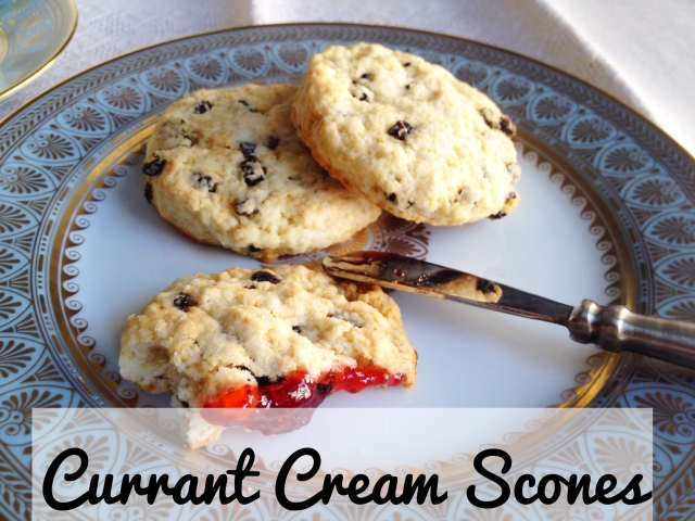 Currant Cream Scones