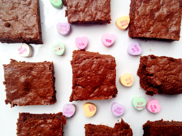 Double Chocolate Brownies for your Valentine