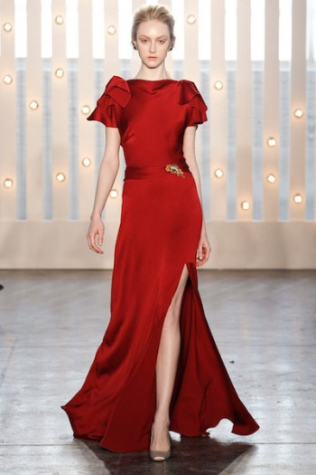 Jenny Packham Red Gown
