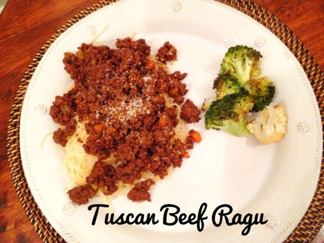 Tuscan Beef Ragu