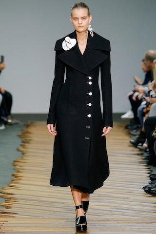 Celine Tailored Black Coat