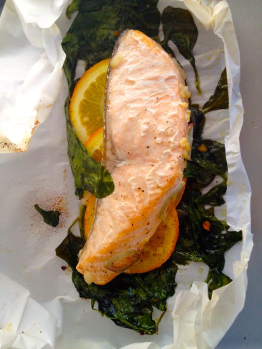 Orange and Ginger Fish in Parchment