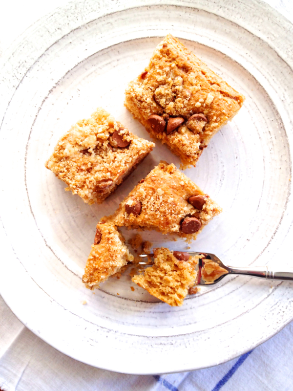 Buttermilk Coffee Cake with Chocolate Chip Crumble Topping