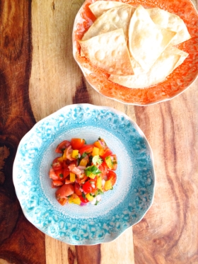 Grapefruit and Cherry Tomato Salsa