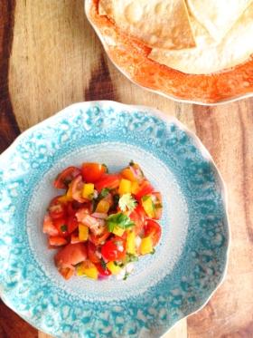 Grapefruit and Cherry Tomato Salsa