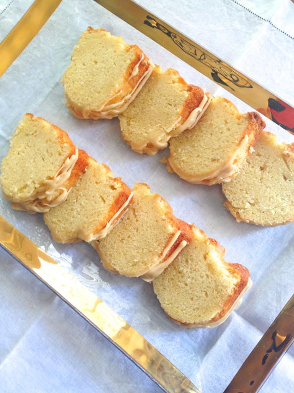 Kentucky Bourbon Butter Cake with Caramel Icing