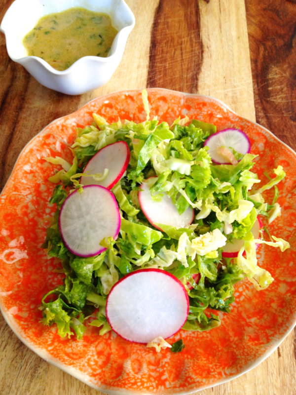 Shaved Brussels Sprout, Mustard Green and Radish Salad with Lemon ...