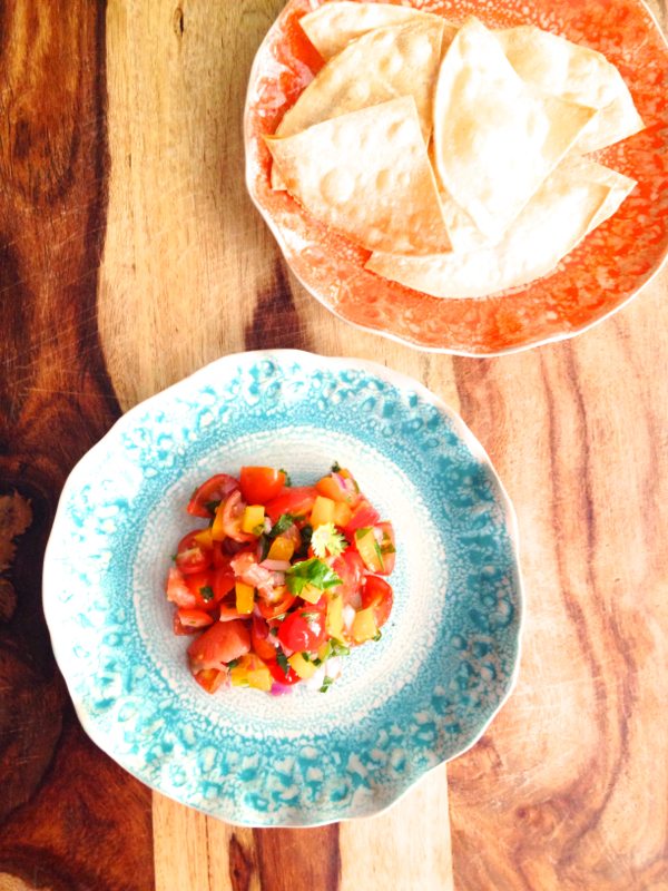Grapefruit and Cherry Tomato Salsa for CInco de Mayo