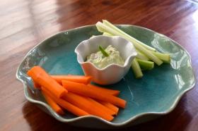 Greek Yogurt Avocado Dip with Fresh Mint