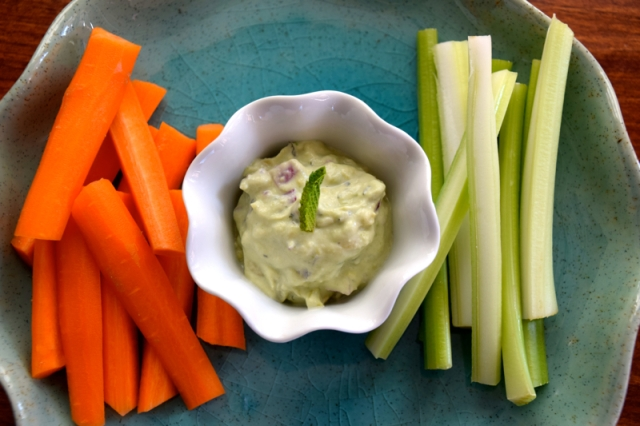 Greek Yogurt Avocado Dip with Fresh Mint