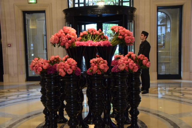 Flowers at the Four Seasons Paris