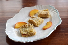 Shortbread Peach Bars
