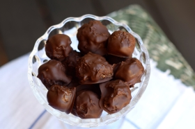 Chocolate Halvah Truffles